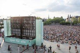 Quelque 14'000 personnes pour voir une opérette à Zurich