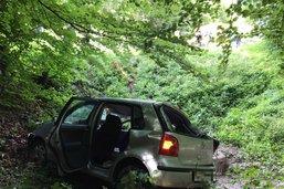 Quatre blessés et une voiture dans le ruisseau