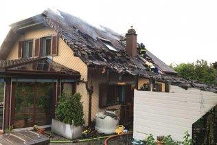 Villa partiellement détruite dans un incendie