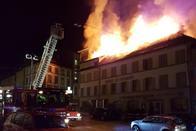 Incendie à l'Hôtel St-Georges de Romont