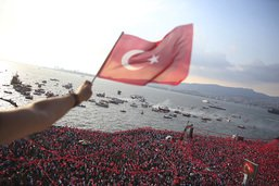 Des milliers de Turcs réunis en soutien à un opposant d'Erdogan