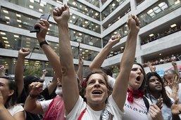 Enfants de migrants séparés: manifestation dans le Sénat américain