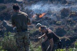 Des incendies ravagent des landes près de Bolton