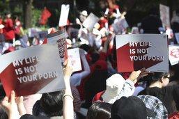 """Corée du Sud : manifestations contre la """"porno des caméras espions"""""""