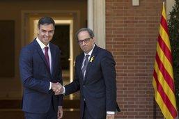Espagne: première réunion au sommet entre Sanchez et le président catalan