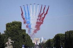 Défilé du 14 juillet à Paris, avant la finale du Mondial