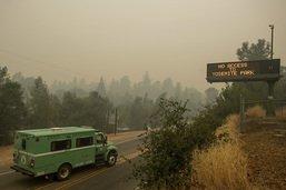 Un incendie menace le parc national de Yosemite en Californie
