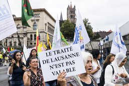 Une manifestation kurde dénonce les 95 ans du Traité de Lausanne