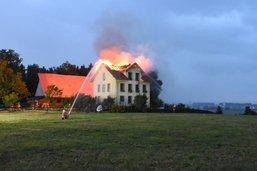 La foudre met le feu à une maison à Muolen (SG)