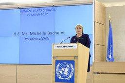 Michelle Bachelet nommée Haut-commissaire aux droits de l'homme