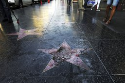 """Vandaliser l'étoile de Trump à Hollywood était """"un acte légitime"""""""