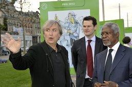 """Pierre Maudet, triste, salue en Kofi Annan un """"grand ami de Genève"""""""