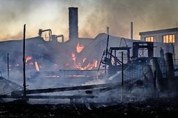 Enorme incendie sur le site Despond