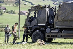Vingtaine de soldats blessés sur la route