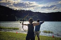 Un combat d'archers en mode sportif