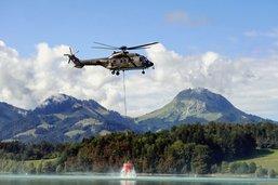 Des hélicoptères puisent dans les lacs gruériens