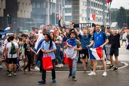 Les Français de Fribourg fêtent les Bleus