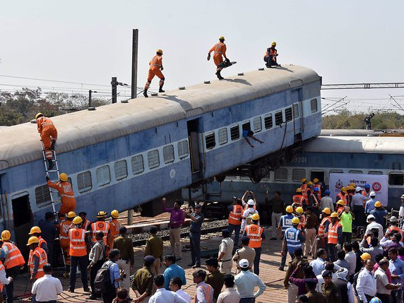 Un accident de train a fait plus de 50 morts en Inde (archives). © KEYSTONE/EPA/SANJEEV GUPTA