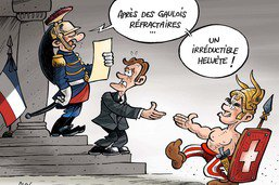 Emmanuel Macron reçoit Alain Berset
