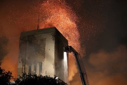 Un célèbre bâtiment Art déco de Liverpool en feu