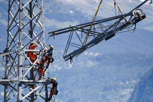 Ligne THT Chamoson-Chippis: peu de chances de déplacer des pylônes