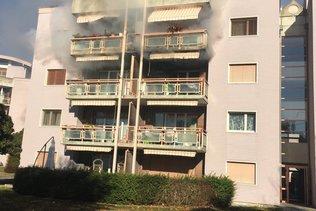 Appartement en feu à La Tour-de-Trême
