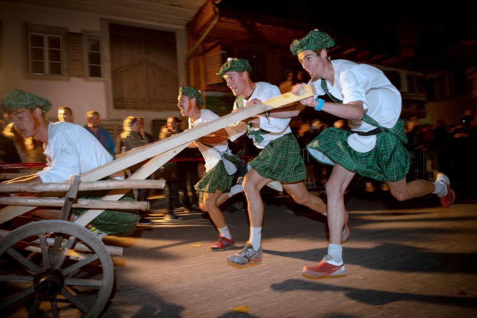 46e course de charrettes de la Bénichon de Charmey