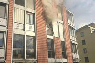 Appartement en feu à Bulle