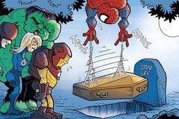 Les super-héros Marvel enterrent leur créateur Stan Lee