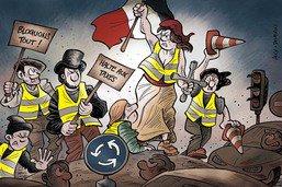 La France paralysée par les «gilets jaunes»