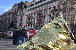 Un incendie au Lausanne Palace