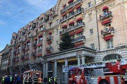 Un incendie au Lausanne Palace juste avant le Réveillon
