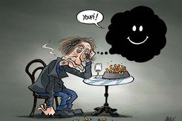 La joie de Houellebecq face au succès de «Sérotonine»