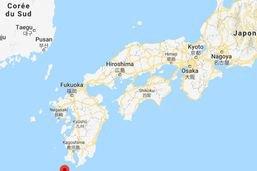 Eruption d'un volcan sur une petite île japonaise du sud-ouest