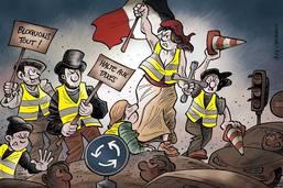 """""""Gilets jaunes"""": 283'000 manifestants et un mort"""