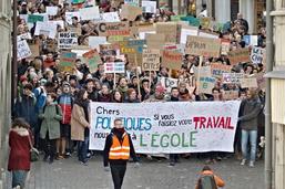 La «grève du climat» à Fribourg