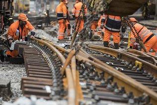 Les travaux se déroulent sans accroc en gare de Lucerne
