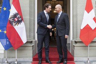 Le chancelier autrichien Sebastian Kurz en visite à Berne