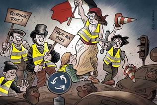 """""""Gilets jaunes"""": le président français face à une fronde populaire"""
