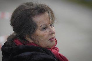 Claudia Cardinale en tournage à Bulle