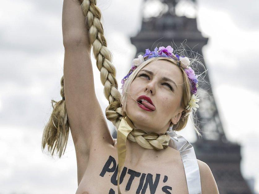 France: une Femen à nouveau relaxée d'exhibition sexuelle par la justice