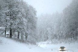 La Suisse sous une fine couche de neige