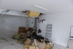 Début d'incendie dans un garage à Ponthaux
