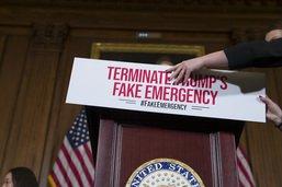 """La Chambre des représentants désapprouve l'""""urgence nationale"""""""