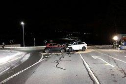 Trois blessés dans un accident de la route à Vuippens