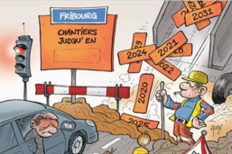 La ville de Fribourg en chantier