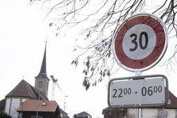 Le 30 km/h en test à Neyruz et Vaulruz