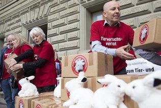 Initiative contre l'expérimentation animale et humaine déposée