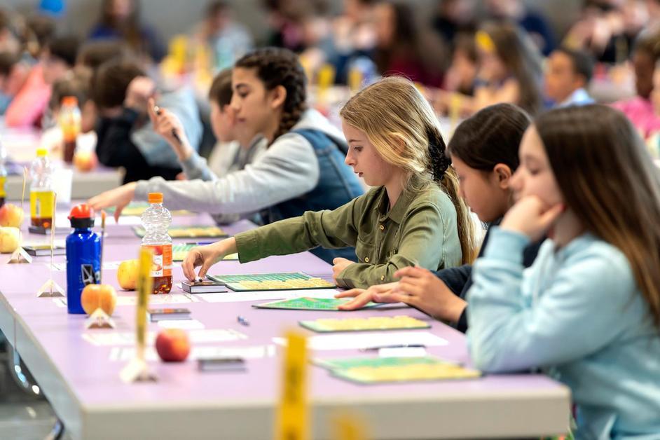 Finale du concours de Scrabble des écoliers romands