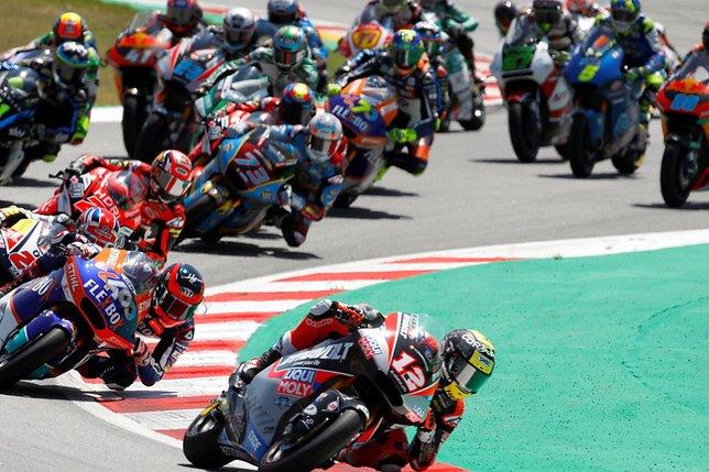 GP de Catalogne: Lüthi sur le podium en Moto2